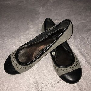 Mossimo Studded Flats - Grey with Black Toe - 7.5
